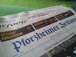 ADAM-Initialkampagne in der Pforzheimer Zeitung